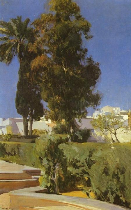 "Gardens of Alcazar, Sevilla"", 1910, Joaquín Sorolla."